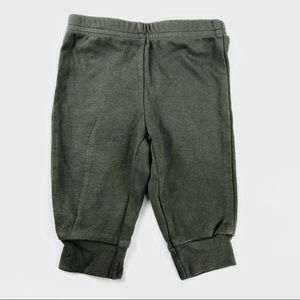 Olive green baby pants